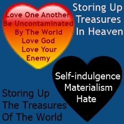 materialism | treasures heart | heaven | world